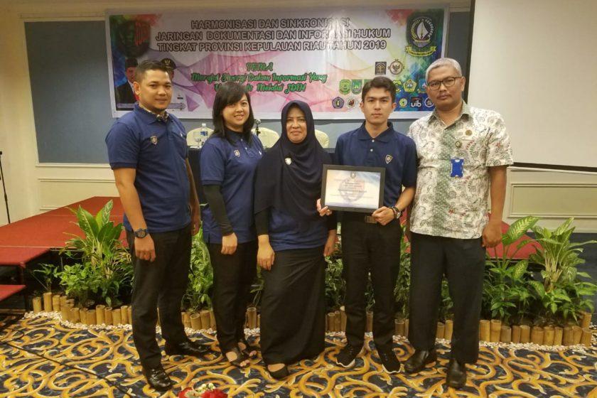 JDIH Kota Batam Raih Penghargaan Terbaik Tahun 2019 Se-Propinsi Kepulauan Riau.
