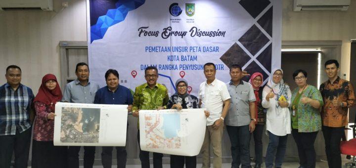 Pemerintah Kota Batam Terima Dokumen Peta Dasar Penyusunan RDTR
