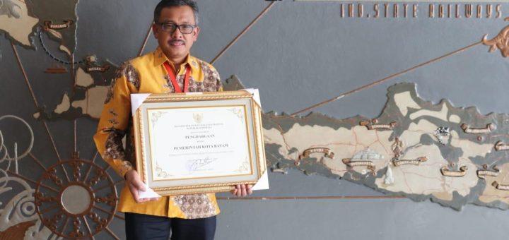 Pemerintah Kota Batam Kembali Terima Penghargaan Kota Peduli HAM