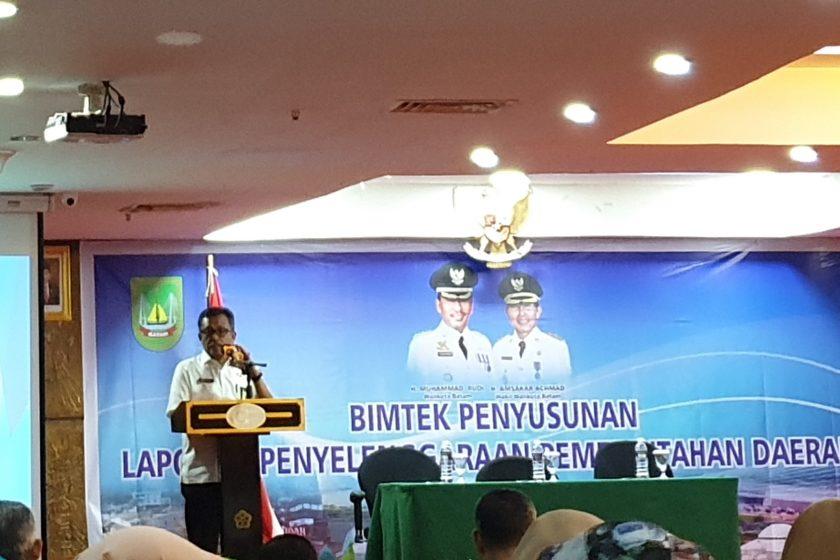 Bimbingan Teknis dalam Penyusunan Laporan Penyelenggaraan Pemerintah Daerah (LPPD) Kota Batam